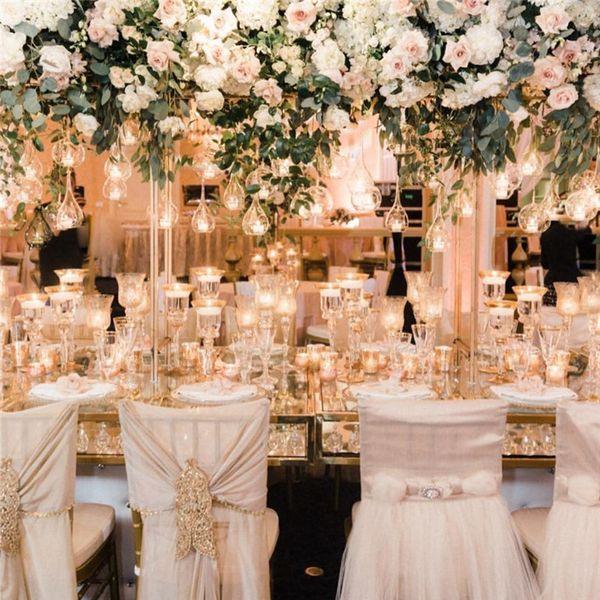 top popular 6cm 8CM 10cm Big Terrarium Borosilicate Hanging Glass Flower Vase Round Tabletop Vases Home Decor Wedding Decoration Transparent 2021