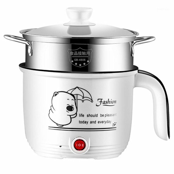 best selling 220V Mini Electric Hot Pot Multi Cooker Portable Electric Rice Cooker Non-stick   Stainless Steel Inner Available EU AU UK US1