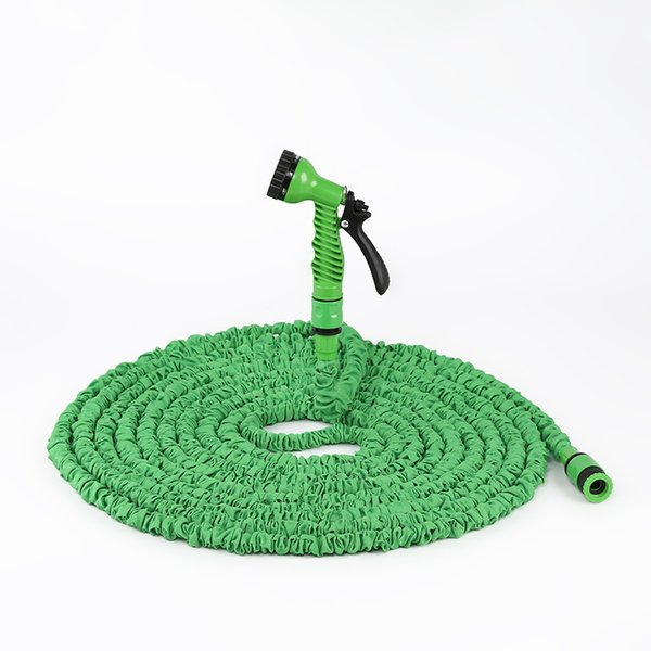 top popular 7.6m New telescopic hose natural latex garden watering hose multi-specification garden hose 2021