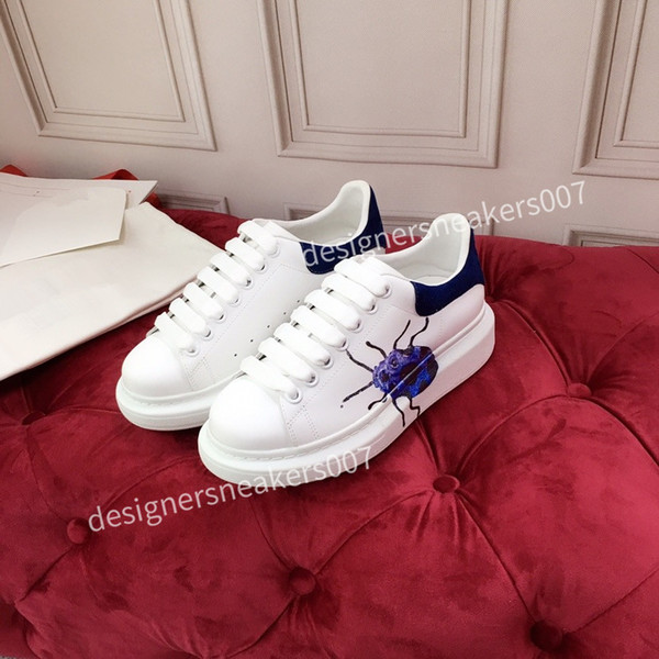 2021new Leather Lace Up Platform Oversized Sole Sneakers White Black Casual hc191002