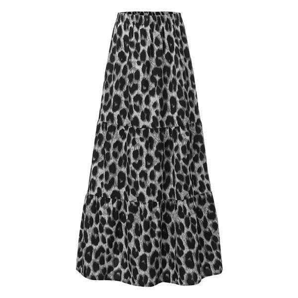 Impresión de leopardo gris