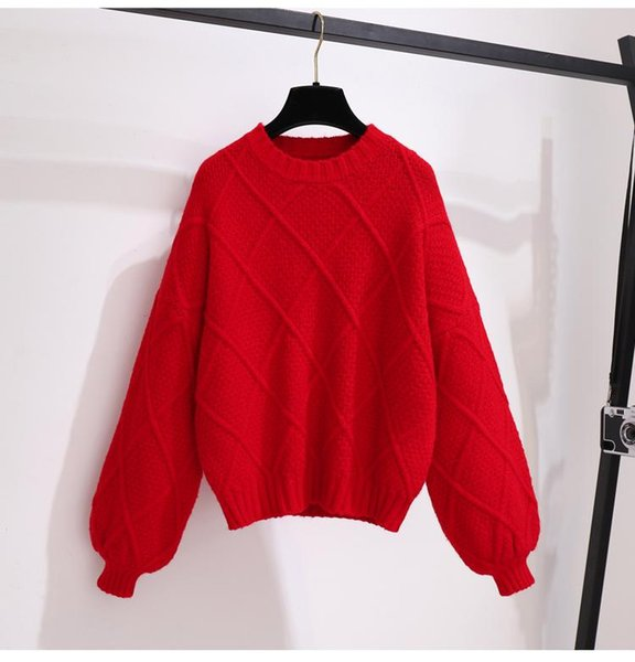 Pull-over rouge