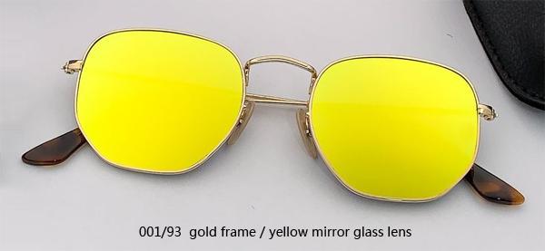 001/93 gold/yellow mirror lens