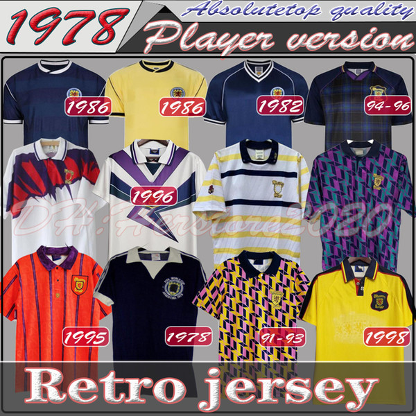 best selling 78 82 1986 1995 Scotland Retro Soccer Jersey World Cup equipment Home blue kits 1996 1998 classic Vintage SCOTLAND Retro Football Shirt tops