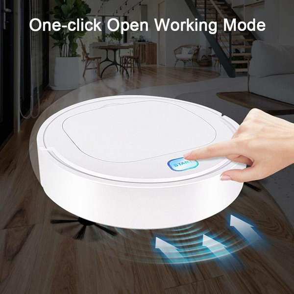 top popular Smart Vacuum Cleaners Robot 3 in 1 1800pa Rechargeable USB Auto Smart Sweeping Dry Wet Mop Clean robot Sweeping Vacuum Cleaner Y200320 2021