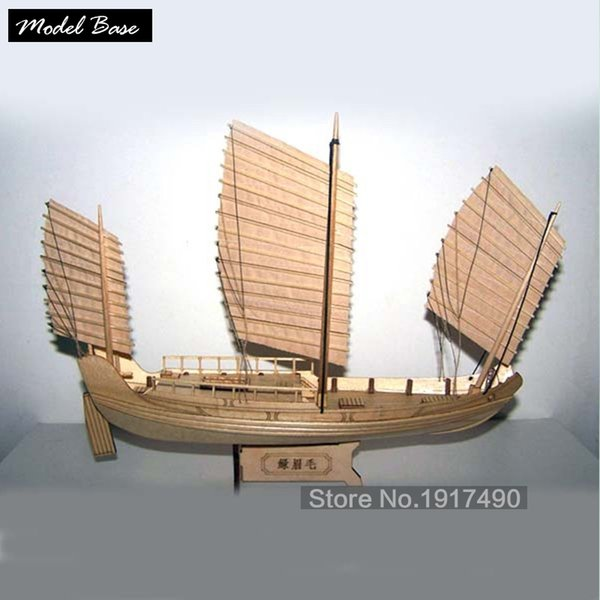 top popular Wooden Ship Models Kits Boats Ship Model Kit Sailboat Educational Toy Model Kit Wood Scale 1 148 Chinese Antique Sailboat Y200428 2021