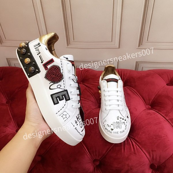 2021new Womans arrival Casual Shoes White Black Red Fashion Mens Women Leather Breathable Shoes Open Low sports Sneakers hc191007