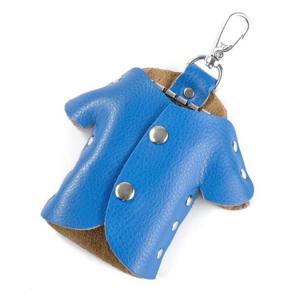 bolsa azul llavero
