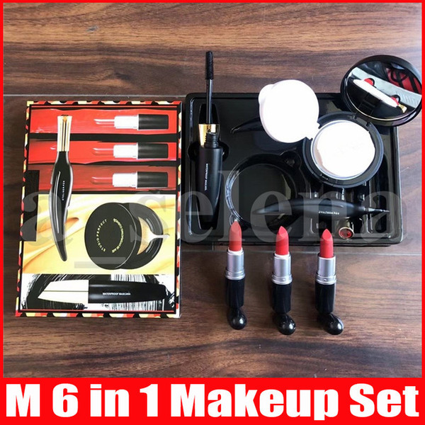 best selling Christmas Gift Look In A Box Makeup Set 6 in 1 Cosmetic Kit Matte lipstick Air Cushion Eyeliner Mascara Sets