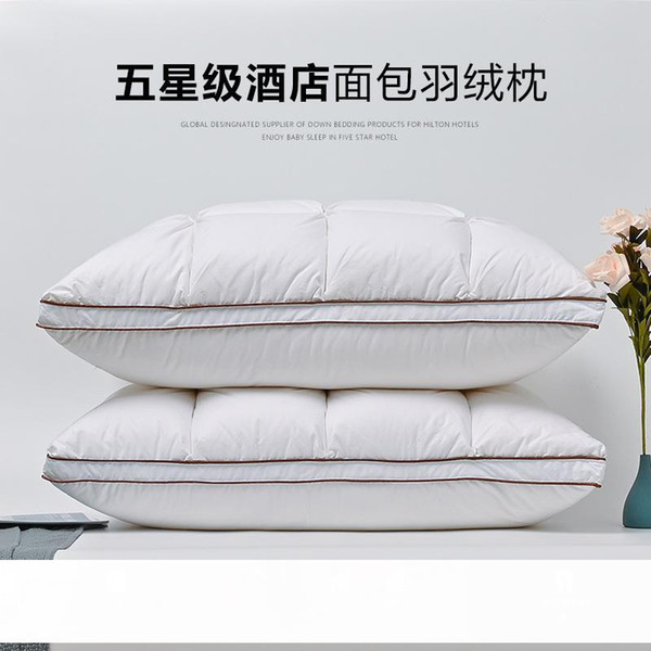 best selling Factory Direct Sales down Pillow Bread Five-Star Hotel Goose Feather Pillow Adult Single White Goose down Pillow Core Delivery