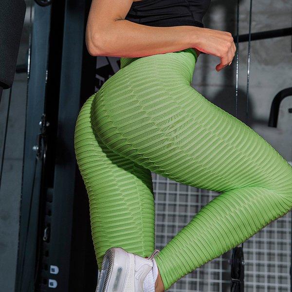 Grüne Leggings.