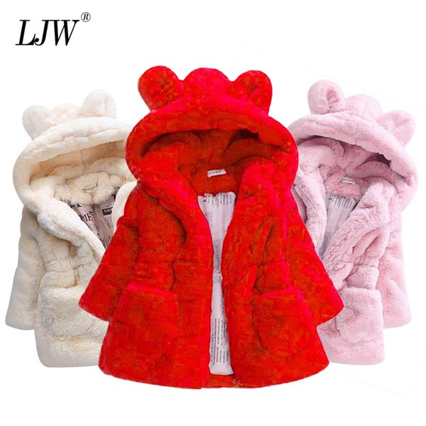 best selling Children's Jacket for Girls Jacket Kids Boys Christmas Coats Artificial Fur Warm Hooded Autumn Winter Baby Girls Infant Clothing Q1123