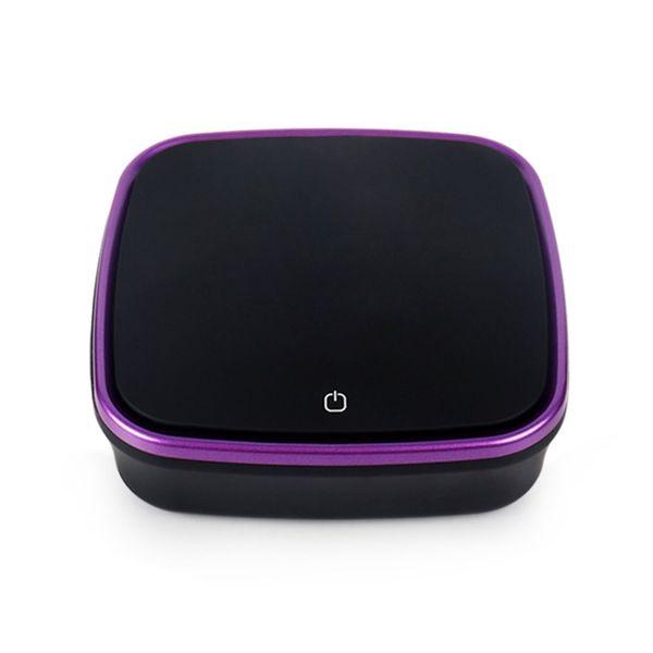 Púrpura con la caja al por menor