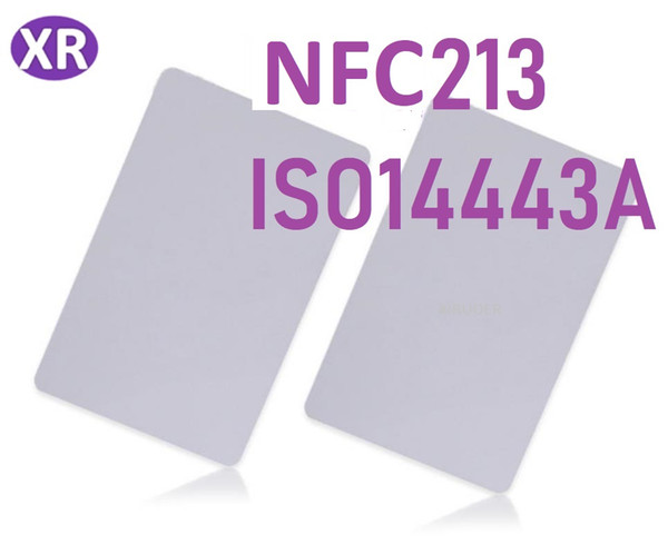 best selling 200Pcs NFC 213 rfid card smart blank card 13.56Mhz rfid card nfc tag for phone compatible with all nfc phone
