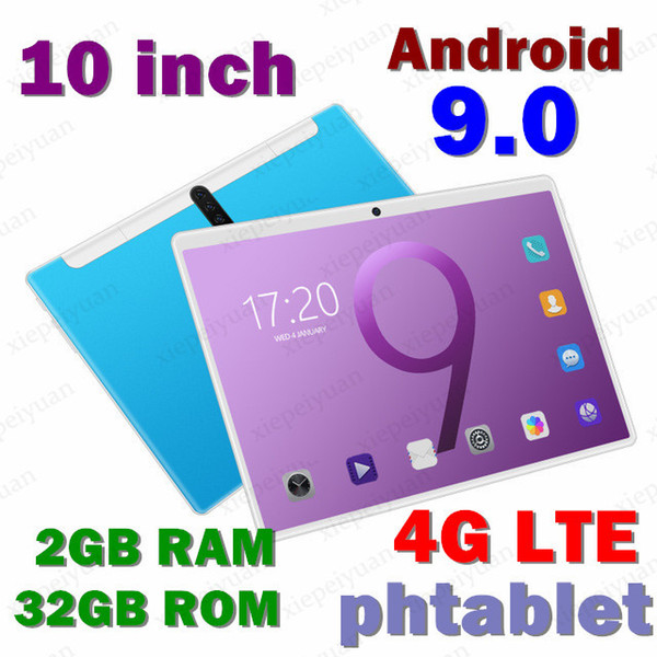 top popular New Tablet Pc 10.1 inch Android 9.0 Tablets Octa Core Google Play 3g 4g LTE Phone Call GPS WiFi Bluetooth Tempered Glass 2021