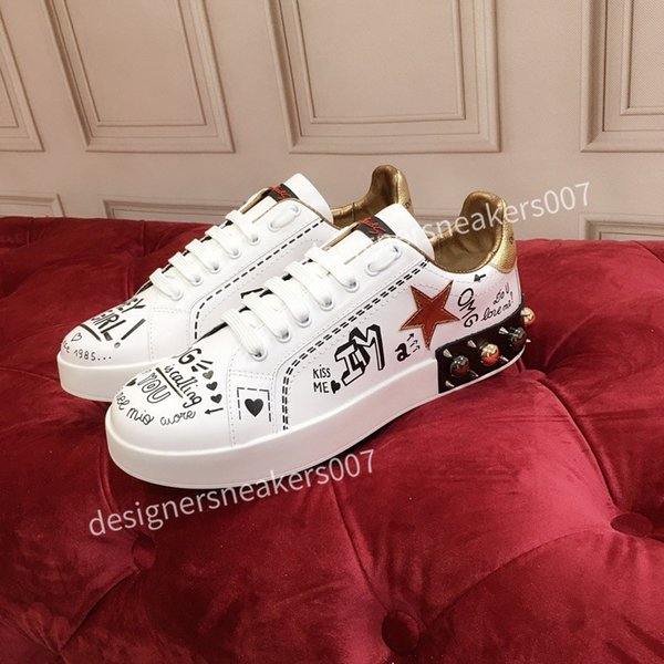 2021top new Man arrival Casual Shoes White Black Red Fashion Mens Women Leather Breathable Shoes Open Low sports Sneakers hc191007