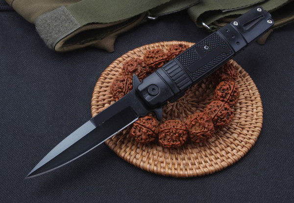 top popular 2019 new knife Knives Side Open Spring Assisted Knife 5CR13MOV 58HRC Stee+aluminum Handle EDC Folding Pocket Knife Survival Gear 2021