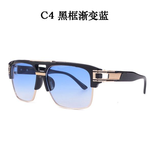C4 Black Frame Gradient Blue