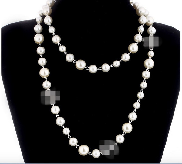 top popular Hot sale pearl necklaces for women long sweater necklace high quality wedding luxury jewelry for best gift 2021