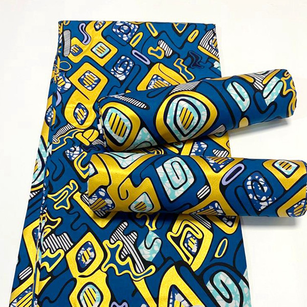 best selling NEW Nigerian golden printed wax 100% african prints cotton fabric wax ankara fabric for African dress