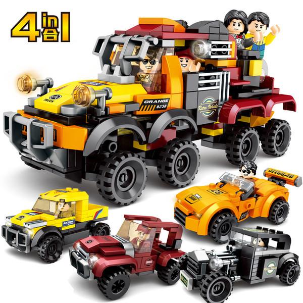 top popular Car Model Blocks Compatible bricks Speed Sports Car Technic Racing Car Super Racers Figures Building Blocks Bricks Kids Toys Q1217 2021