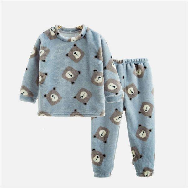 Blue Bear in Flannel
