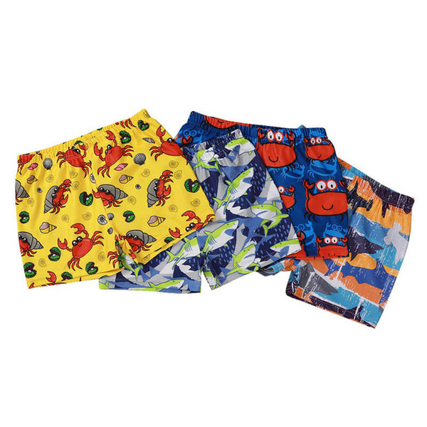 top popular 4Color Cartoon Boys Swim Trunks boys swimwear ocean animal kids swim trunks kids swimwear Boys Bathing Suits kids clothes wholesale B3731 2021