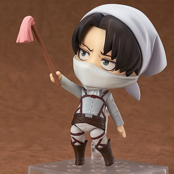 best selling Attack on Titan Anime Figures Levi Ackerman 390 417 Eren Jaeger 375 Action Figurine Ver.PVC Cute Toys Model Kids Doll Brinquedos Q1215