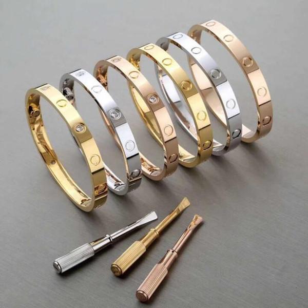 best selling Brand Women Men Couple Bracelet 316 titanium steel Love Screw bangle bracelet