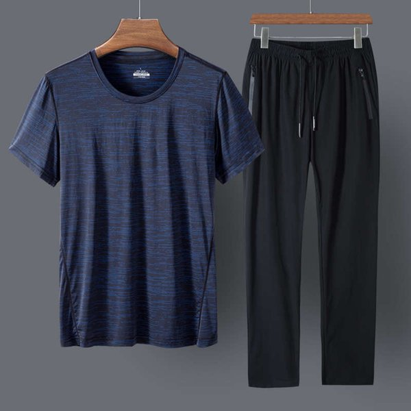 Dark Blue And Black Trousers