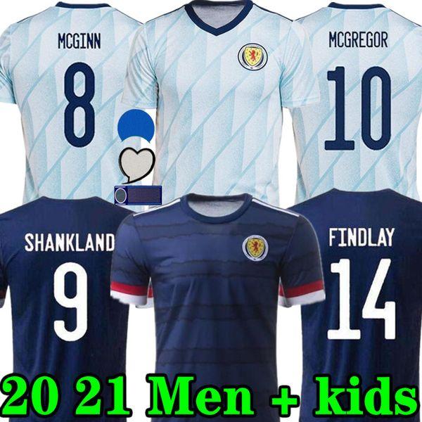 top popular New Scotland soccer jerseys HOME 2020 2021 AWAY ROBERTSON FRASER football shirt NAISMITH MCGREGOR CHRISTIE FORREST MCGINN Men Kids 2021
