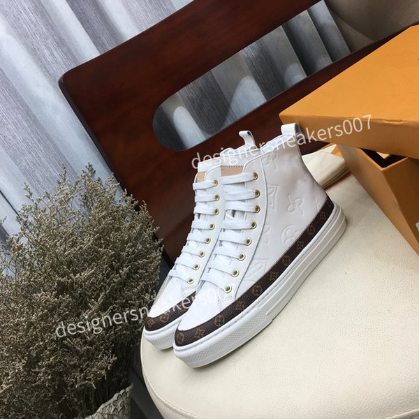 2021Woman suede fashion Oversize sneakers leather shoes leather shoes increase Men And Women size dc190921