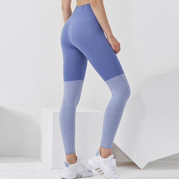 top popular Peach Hip High Waist Yoga Pants Sports Tights Sweat-absorbent Quick-drying Hip-lifting Mesh Stitching Fitness Pants 2021