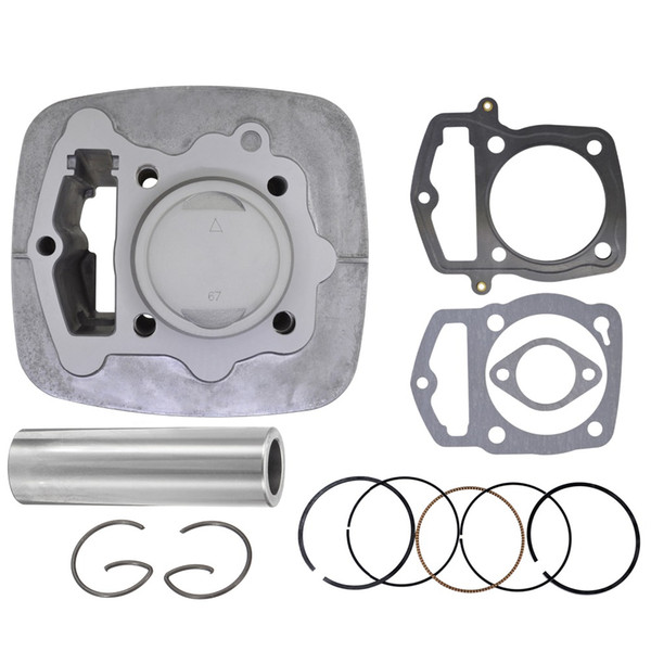 top popular Motorcycle cylinder piston gasket modification kit 67mm for Loncin Re250 crf230 gp250 cb250 gty TGR CQR kayo BSE 250 off road vehicle Quad 2021