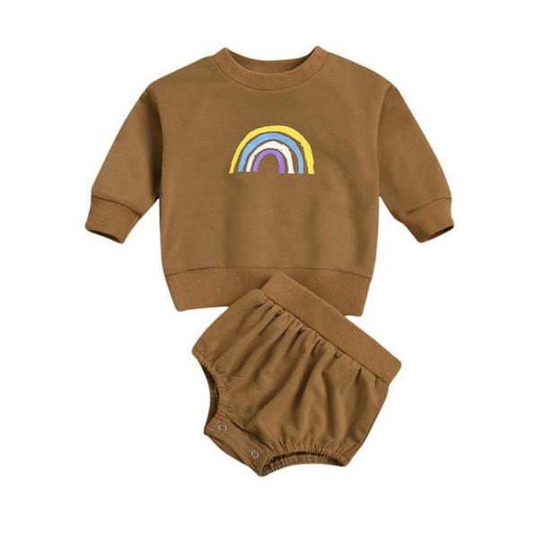 Set de ropa de bebé # 3 arco iris