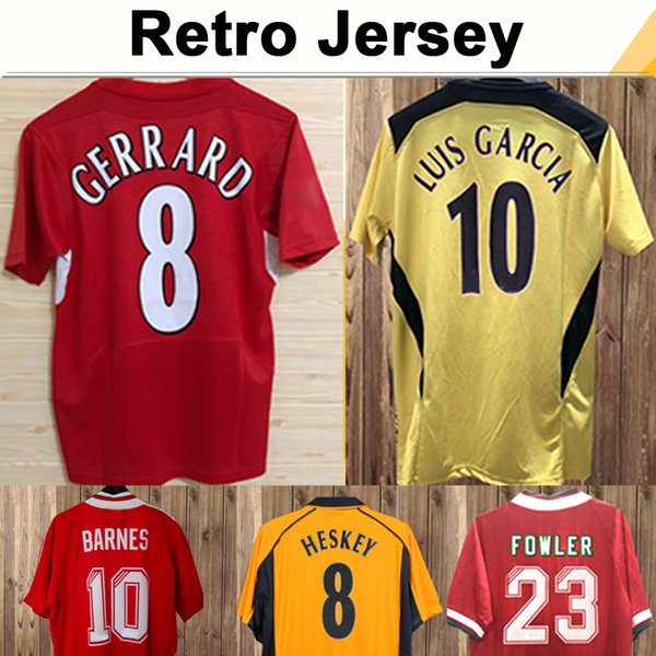 top popular 1993 1995 DALGLISH HESKEY Mens Retro Soccer Jerseys FOWLER GERRARD TORRES KUYT Home Away 3rd Football Shirt Short Sleeve Adult Uniforms 2021