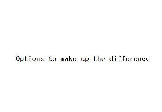 Opzioni per compensare la differenza