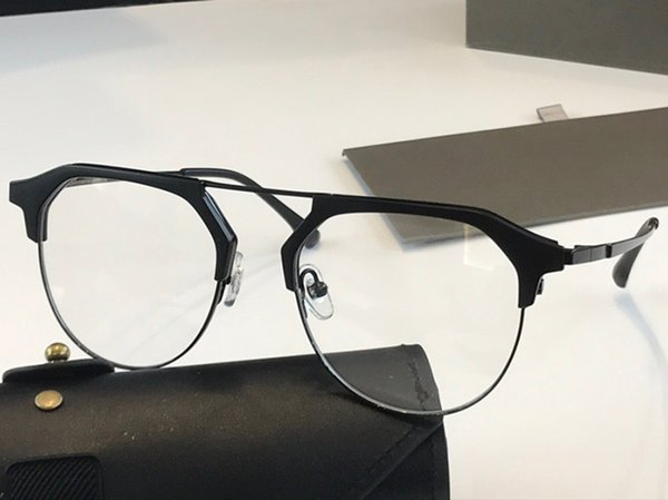 Black frame transparent lens