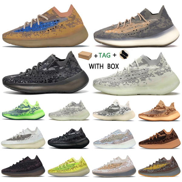 top popular 2021 Kanye West 380 v3 Top Factory Quality Men Sneakers Alien Mist Black Camo Women Runner Shoes with Box Receipt Socks Keychains Tags Suit 2021