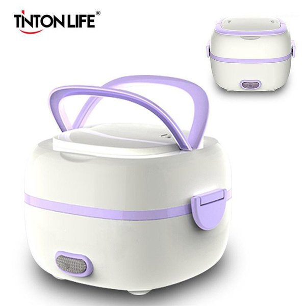 best selling Mini Rice Cooker Thermal Heating Electric Lunch Box 2 Layers Portable Steamer Cooking Container Multifunctional Lunchbox1
