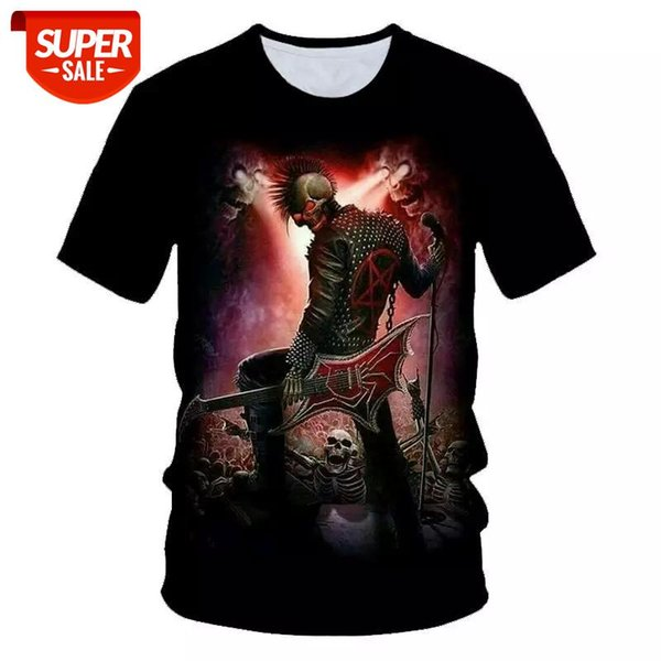 best selling Skull Beauty Cool 3D t shirts Mens Motorcycle Punk 3D Printed T shirt Men Clothes tshirt Summer Top Homme Hipster Pop Shirt #XD8c