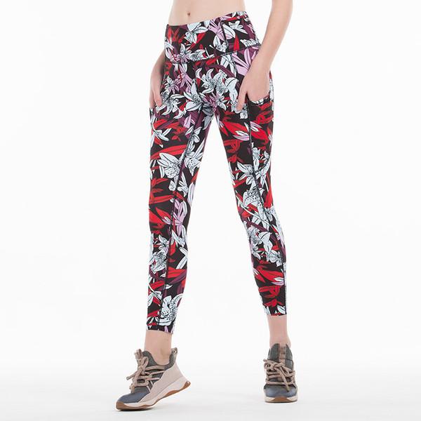 Print Yoga Pants Women Unique Fitness Leggings Workout Sports Running Leggings Sexy Push Up Gym Wear Elastic Slim Trousers