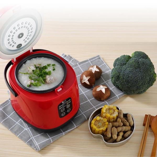 best selling 1.2L Mini Smart Rice Cooker Porridge Soup Professor Chinese Maker Free Shipping Warmer Steamer Timing Led Screen1