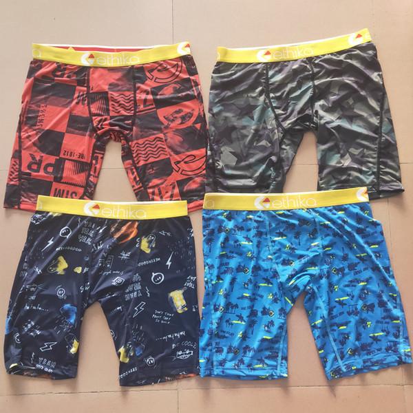 top popular ethika men boxers ethika boxers Sports Hip Hop Rock Excise Underwear Skateboard Street Fashion Streched Quick Dry Random 2021