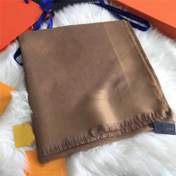 top popular High-grade scarf classic gold thread jacquard women's scarf woollen soft shawl classic triangular shawl 140*140cm rdhzh 2021