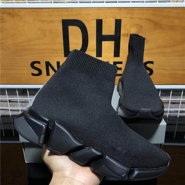 top popular Top Quality Men Women Luxury Designers Pairs Sock Boots Outdoor Platform Casual Shoes Men Socks Speed 2.0 Trainer Triple S Black Sneakers 2021