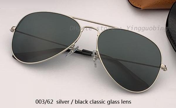 003/62 الفضة / عدسة سوداء كلاسيكية