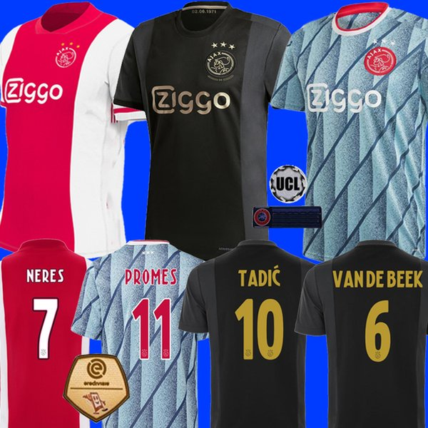top popular 20 21 AJAX amsterdam soccer jersey 2020 2021 KUDUS ANTONY BLIND PROMES TADIC NERES CRUYFF men kids kit football shirt uniforms third 50th 2020