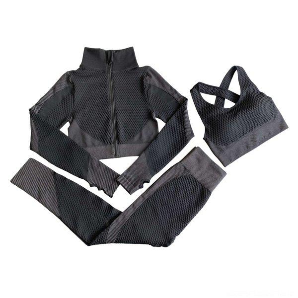 Three Piece Black And Grey Suit