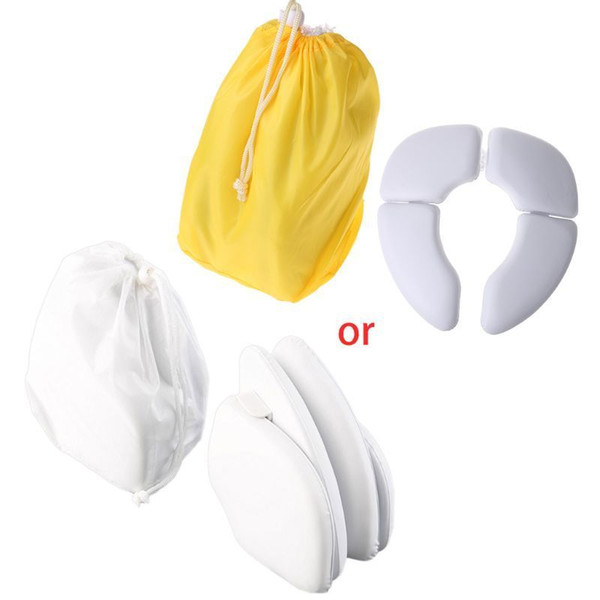 best selling Kids Baby Toddler Travel Folding Padded Potty Seat Cushion Toilet Training LJ201110